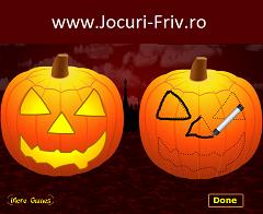 Sculpteaza Dovlecii de Halloween