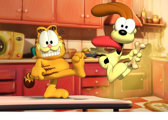 Coloreaza-l pe Garfield